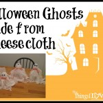 Halloween Ghosts Made from Cheesecloth