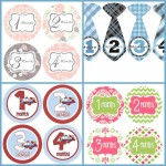 Monthly Onesie Stickers from Get the Party Started