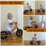 Strider Bike Review and Giveaway