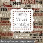 Family Values Subway Art {Free Printable}