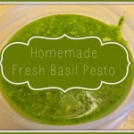 Easy Homemade Fresh Basil Pesto