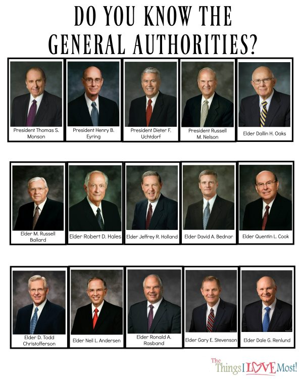 Do you Know the General Authorities game