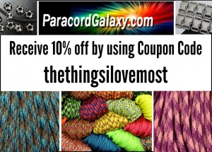 Paracord Discount using code thethingsilovemost