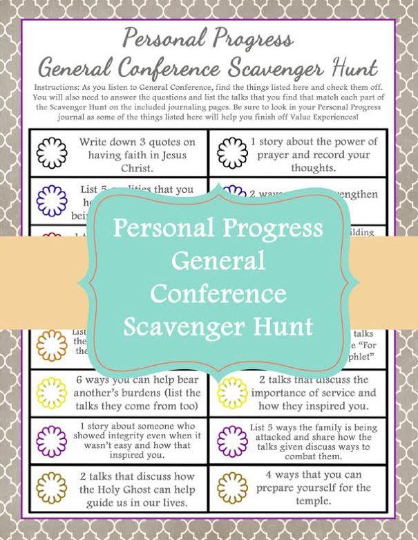 Personal Progress Scavenger Hunt