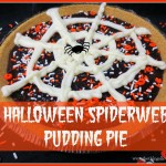 Halloween Spiderweb Pudding Pie