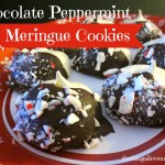 Chocolate Peppermint Meringue Cookies