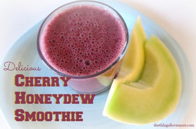 Cherry Honeydew Smootie