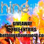 The Color Run Shine Tour Giveaway