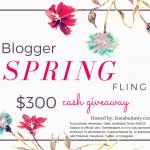 Blogger Spring Fling Cash Giveaway