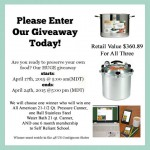 All American Pressure Canner & Waterbath Canner Giveaway