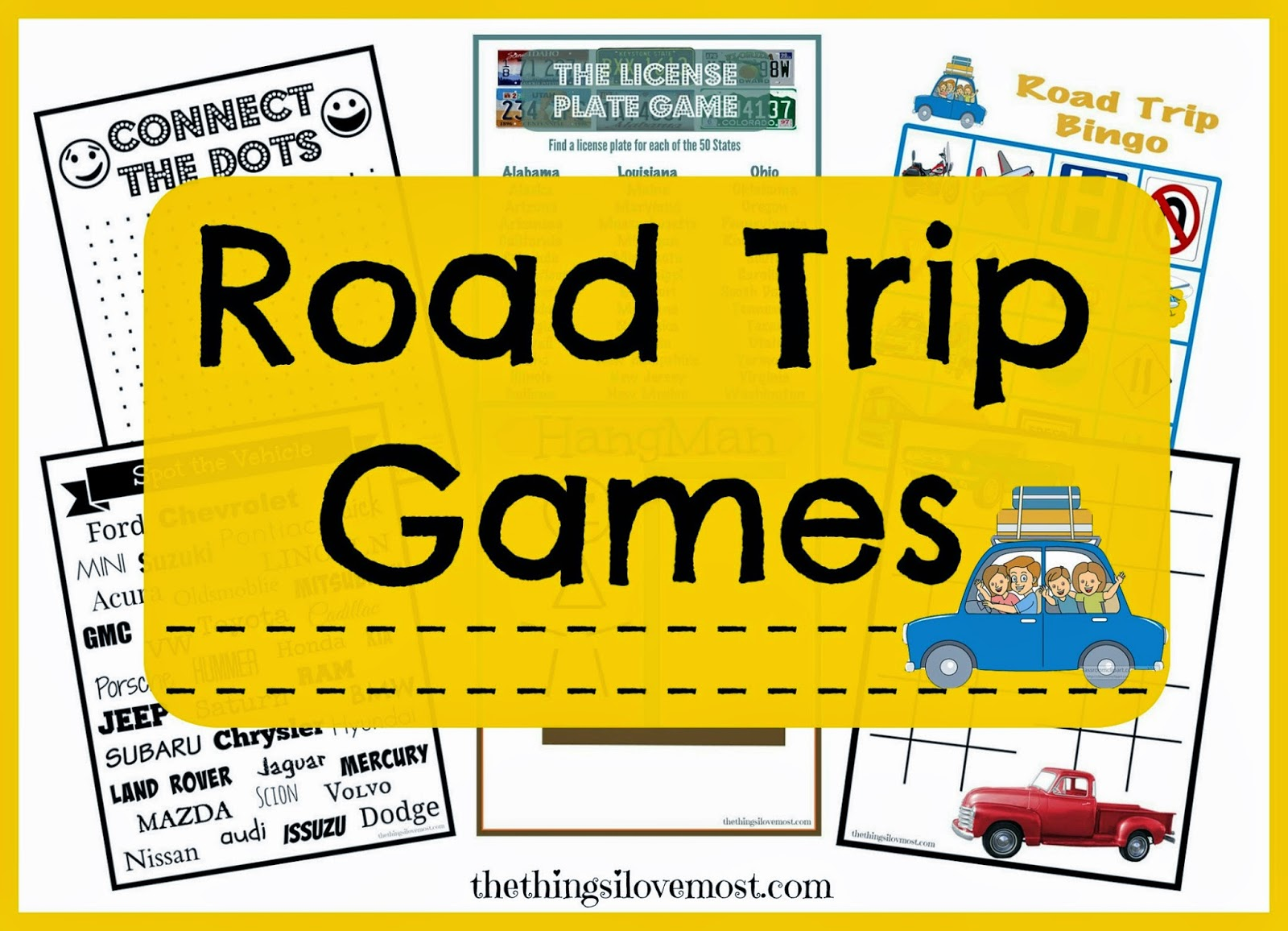 FREE PRINTABLE ROAD TRIP TRAVEL GAMES + 10 WAYS TO KEEP YOUR KIDS ENTERTAINED WHILE TRAVELING