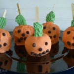 Halloween Pumpkin Caramel Apples