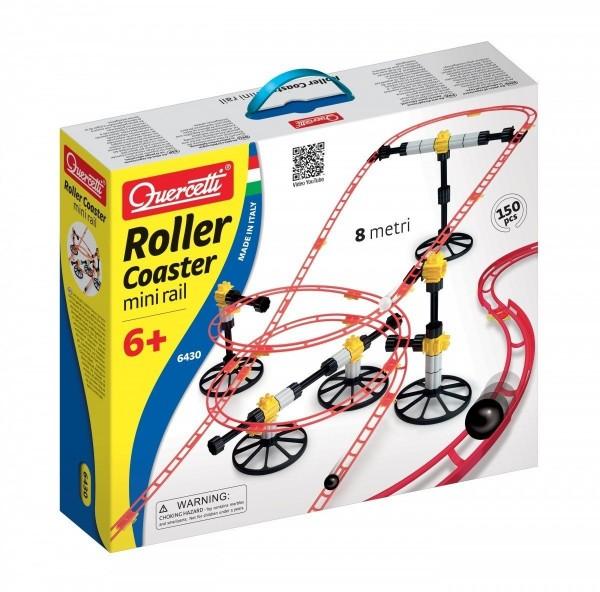 Quercetti Skyrail Mini Rail Rollercoaster, 150 Pieces