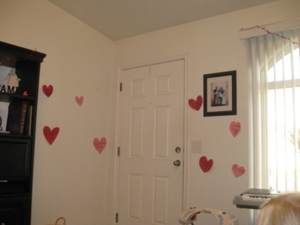 Heart WAll Valentine's decor