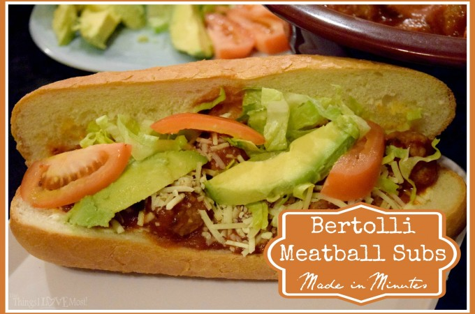 Bertolli Meatball Subs – Made in Minutes {+Giveaway}