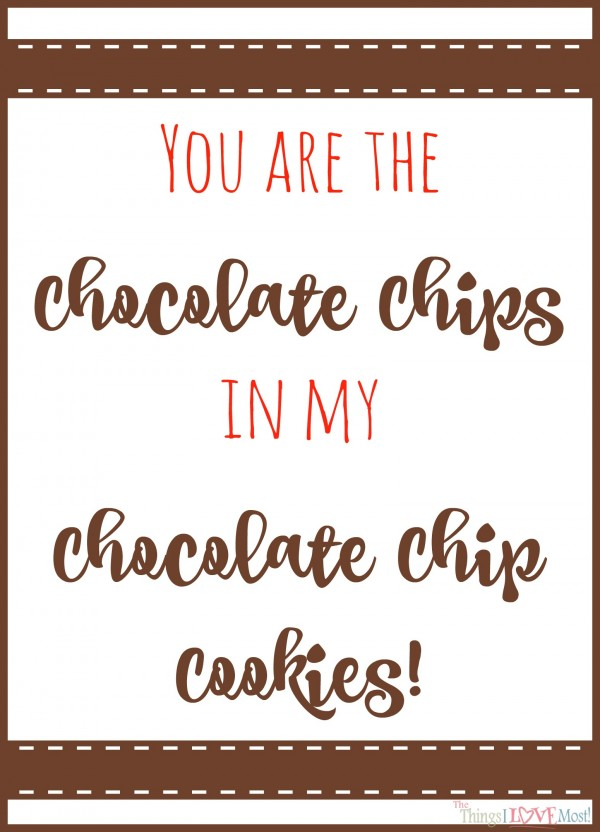 Chocolate chip Cookies - Easy Valentine's Day Gifts