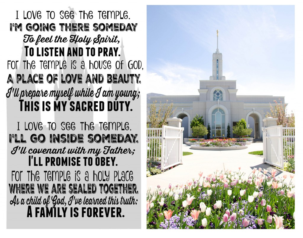 I Love to See the Temple Printable & #21DayTempleChallenge