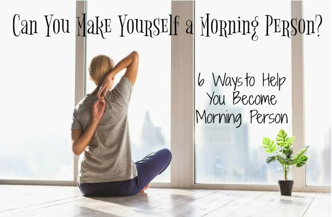 Can You Make Yourself a Morning Person?