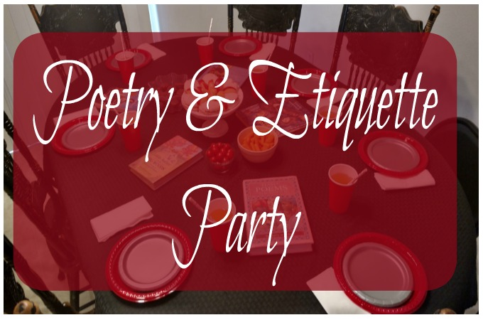Poetry & Etiquette Party