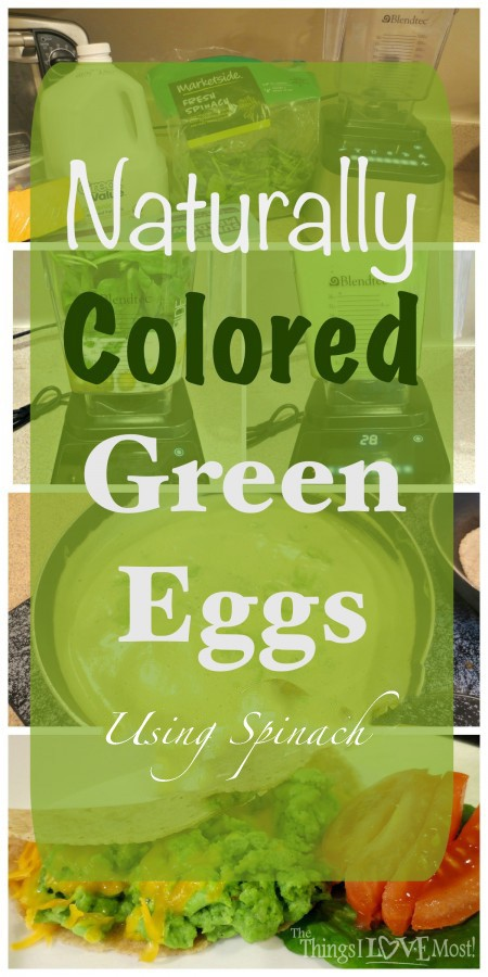 Naturally Colored Green Eggs from The Things I love Most