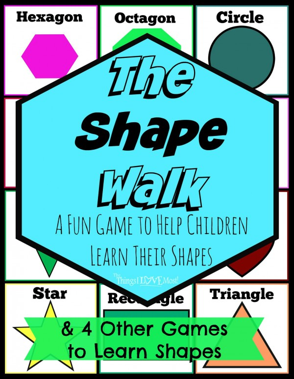 The Shape Walk & Other Fun Games to Help Children Learn Their Shapes